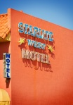 Stardust Motel. A Modern Building with a Retro Sign.