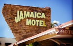 Jamaica Motel — Note the Cool Arrow Sign at the Lower Right