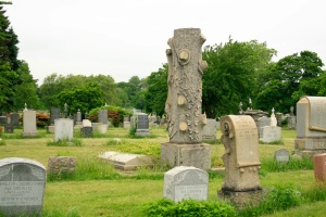 "A ""Woodmen of the World"" Gravemarker. Similar stones can be found in many cemeteries."